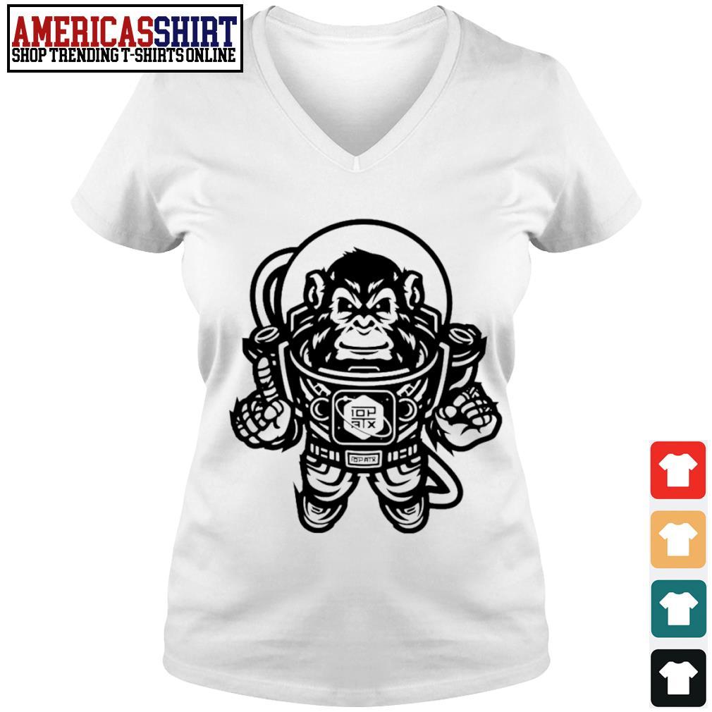 10th Planet Austin Space Ape Jiu Jitsu s v-neck t-shirt