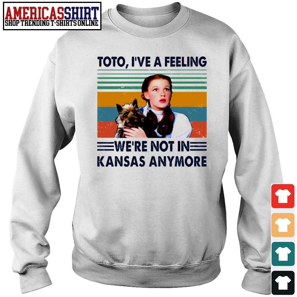 Judy Garland Toto I've a feeling we're not in Kansas anymore vintage s sweater