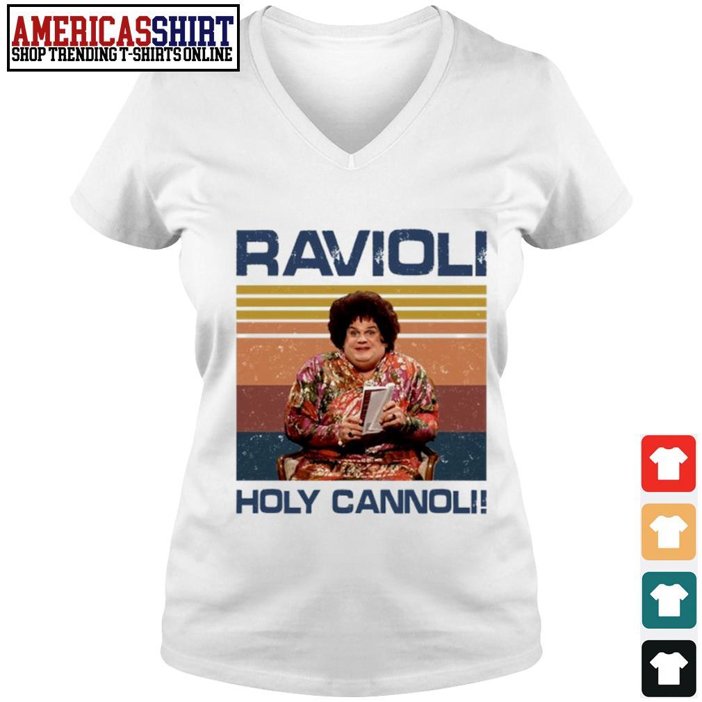 Ravioli holy cannoli vintage s v-neck t-shirt