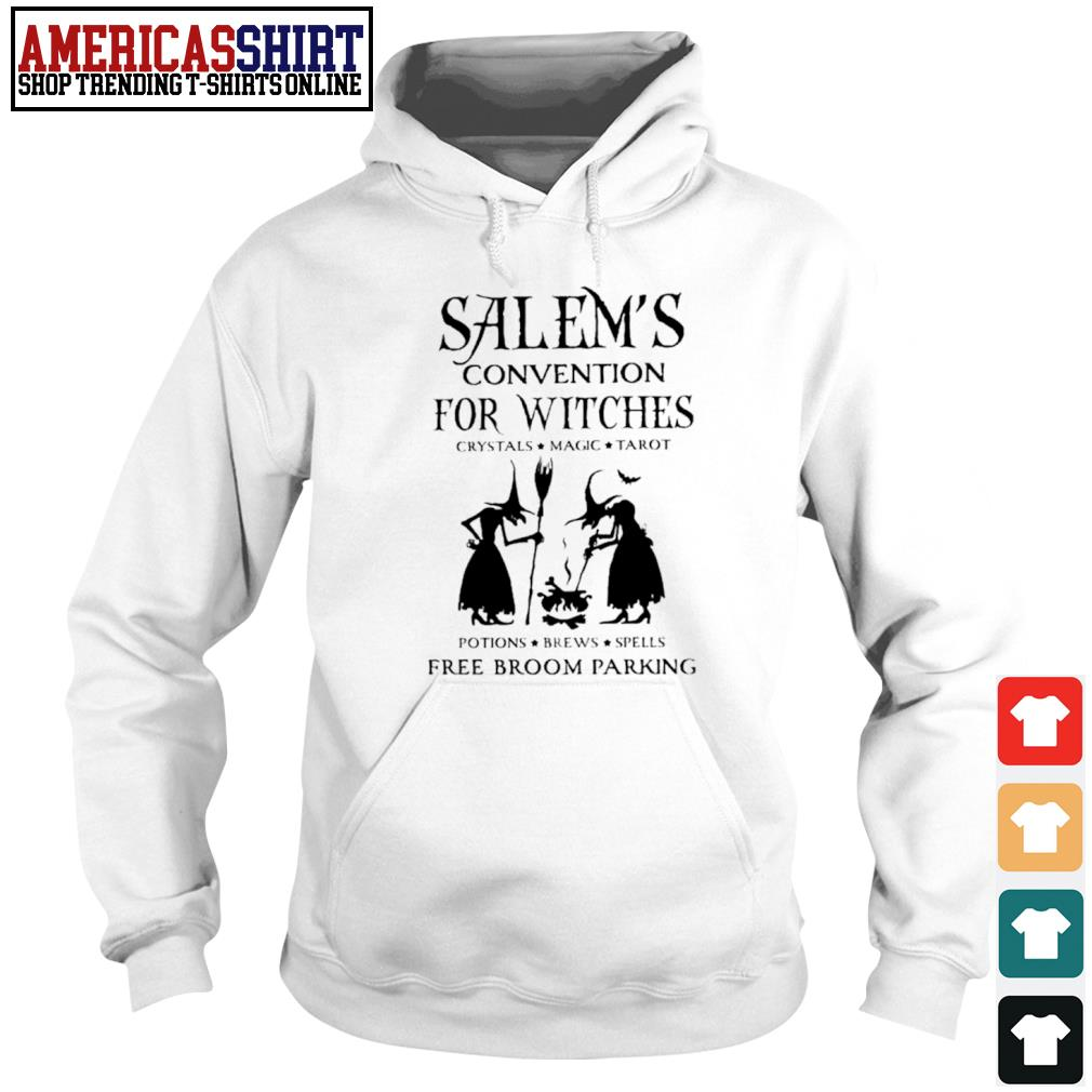 Salem's convention for Witches crystals magic tarot potions brews spells free broom parking s hoodie