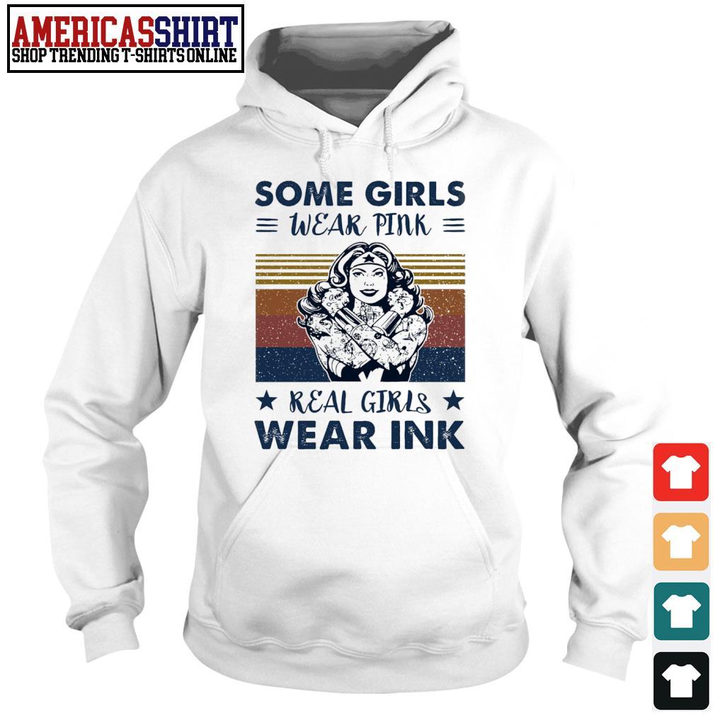 Wonder Woman some girls wear pink real girls wear pink vintage s hoodie