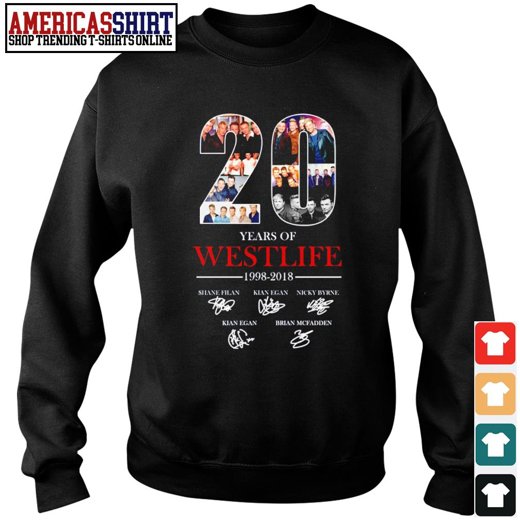 20 years of Westlife 1998 2018 signature s sweater