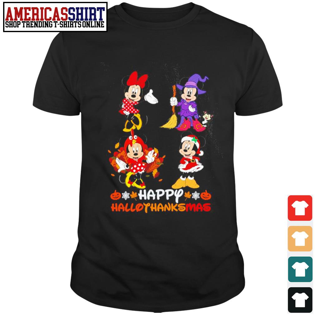 Happy HalloThanksMas Minnie Mouse shirt