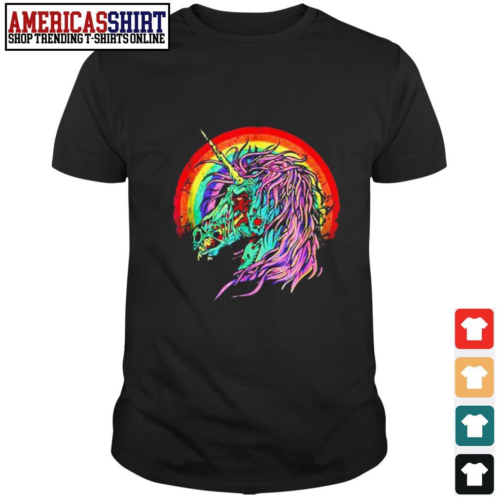 Zombie Unicorn Halloween shirt