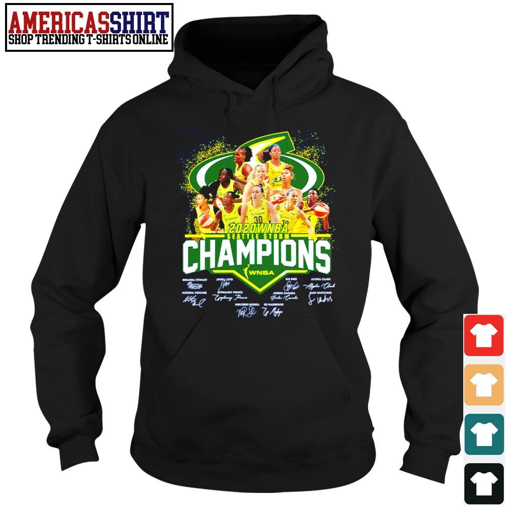 2020 WNBA Seattle Storm Champions WNBA signature s hoodie