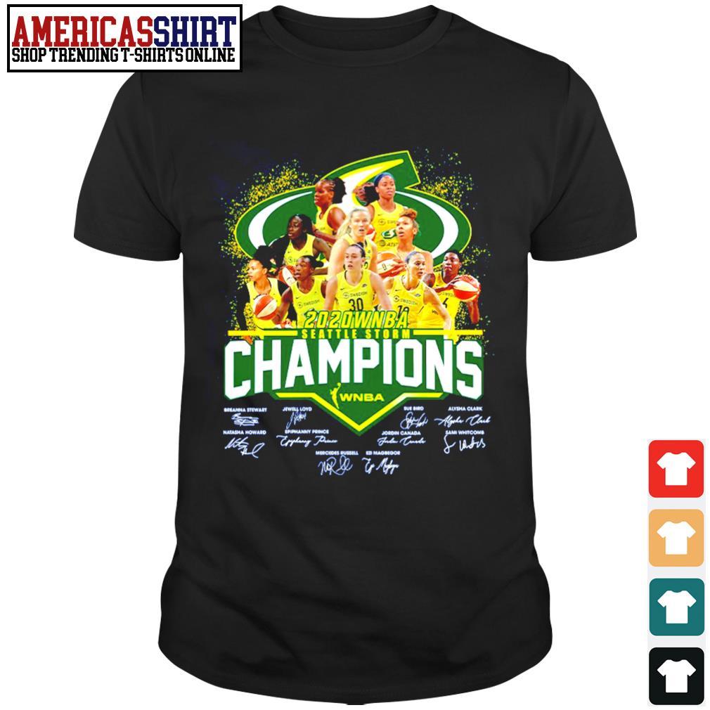 2020 WNBA Seattle Storm Champions WNBA signature shirt