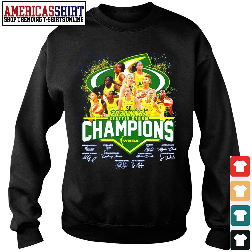 2020 WNBA Seattle Storm Champions WNBA signature s sweater