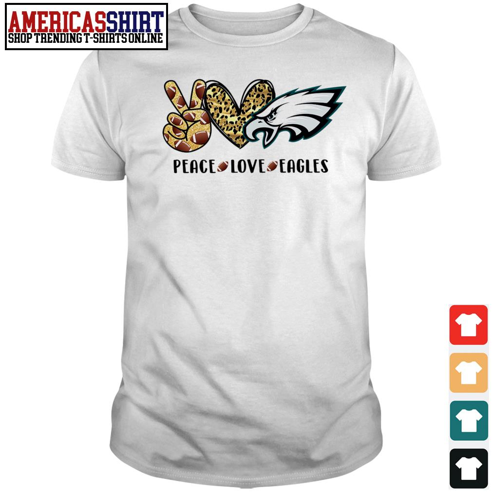 Peace love and Eagles Leopard shirt