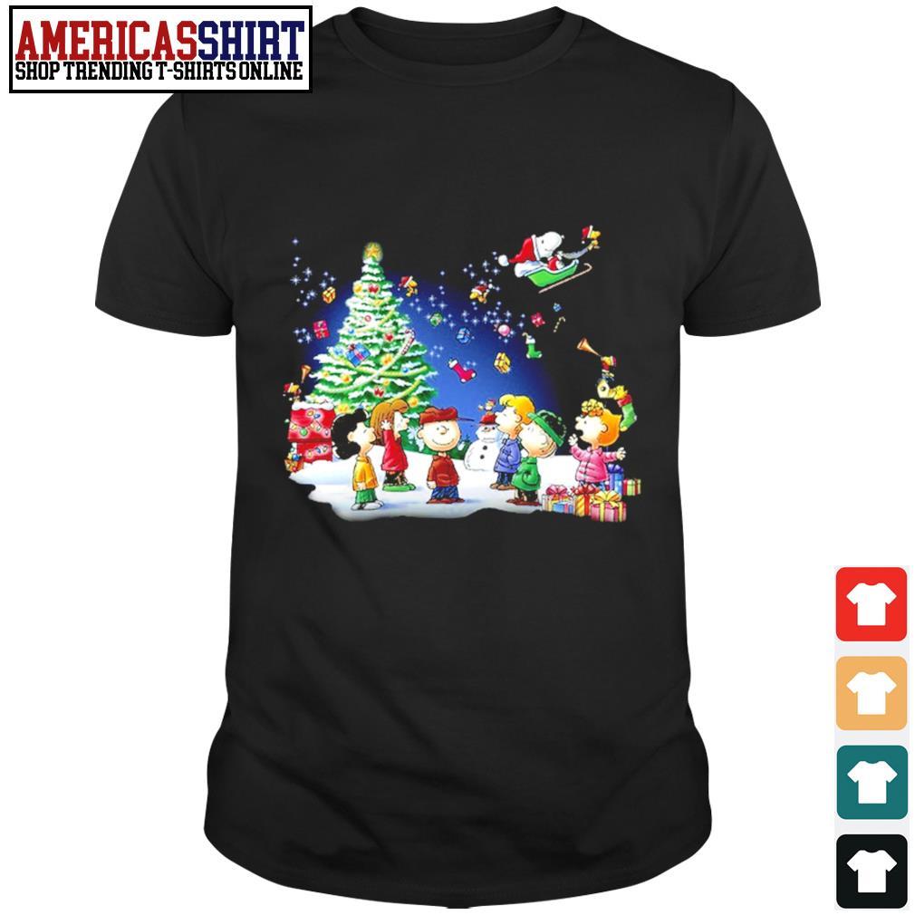 Snoopy Santa Claus Peanuts characters Christmas shirt