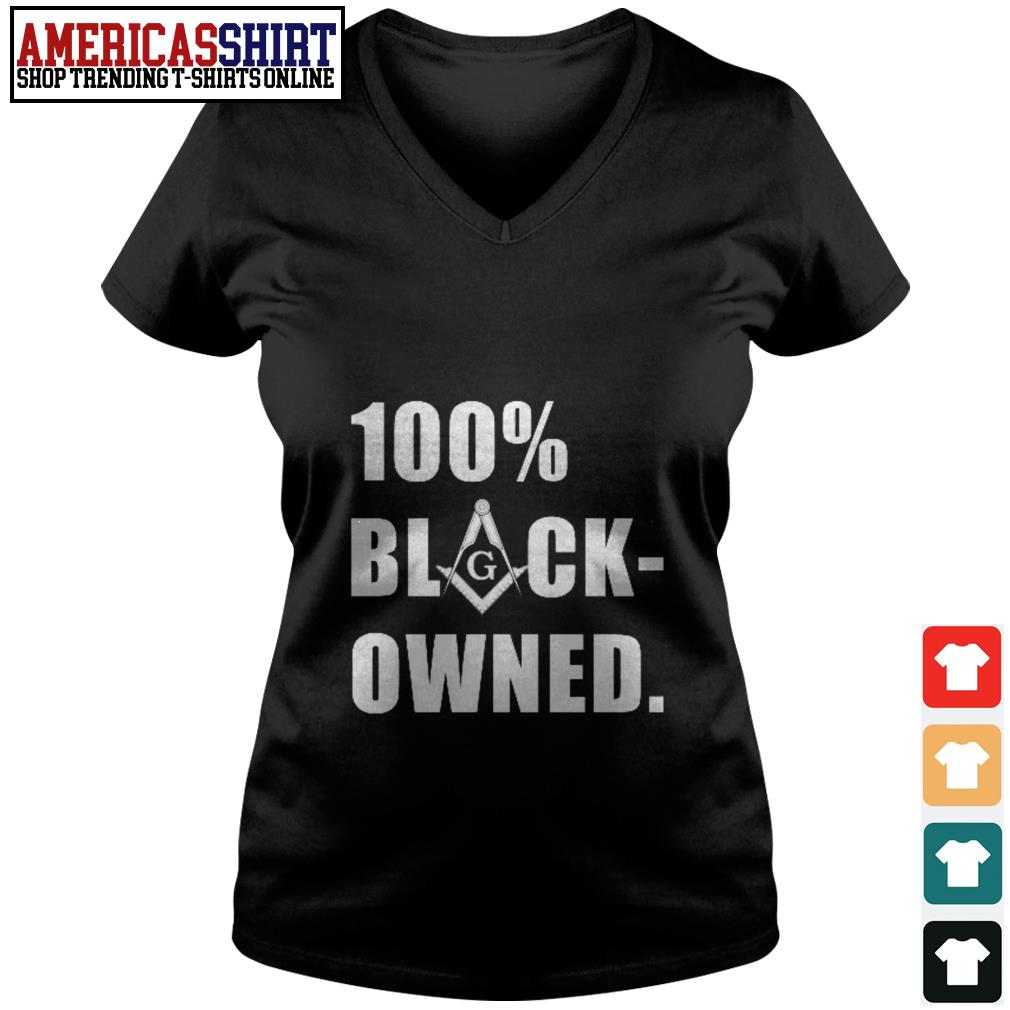100 percent black owned V-neck T-shirt