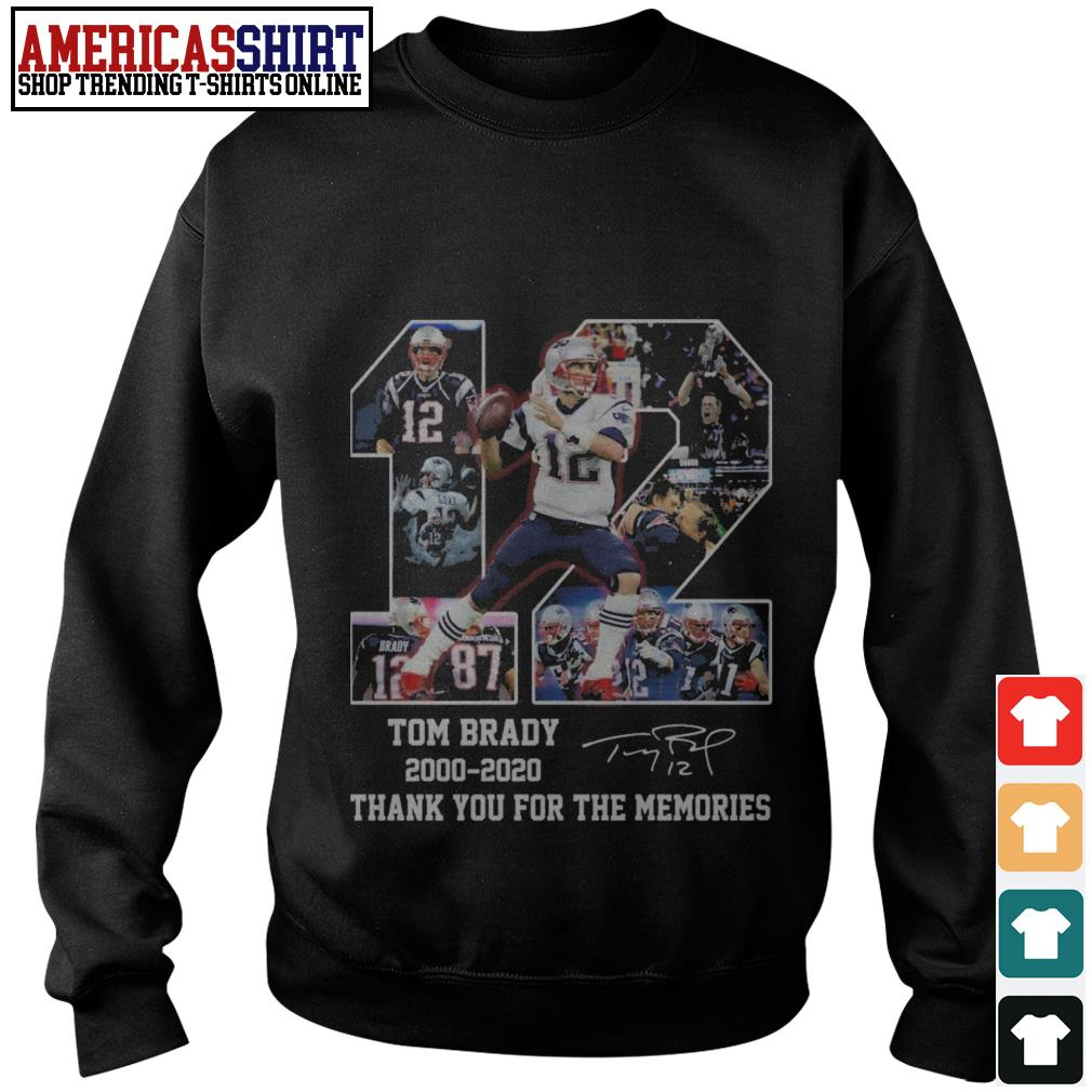 12 Tom Brady 2000 2020 signature thank you for the memories Sweater