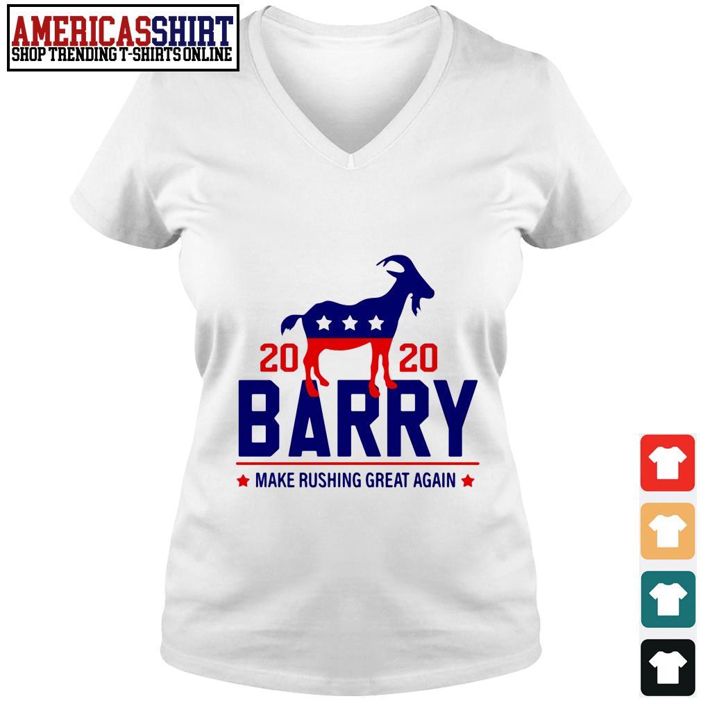 2020 Barry make rushing great again V-neck T-shirt