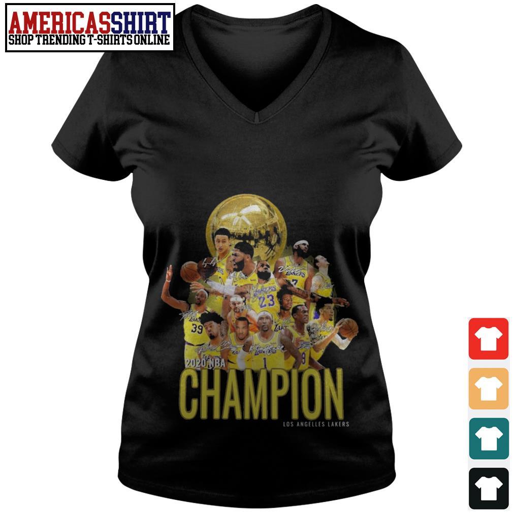 2020 NBA Champion Los Angeles Lakers V-neck T-shirt