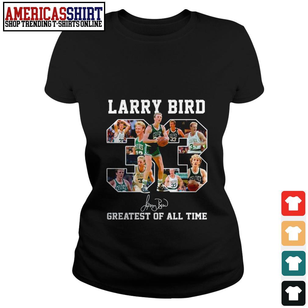 33 Larry Bird greatest of all time signature Ladies Tee