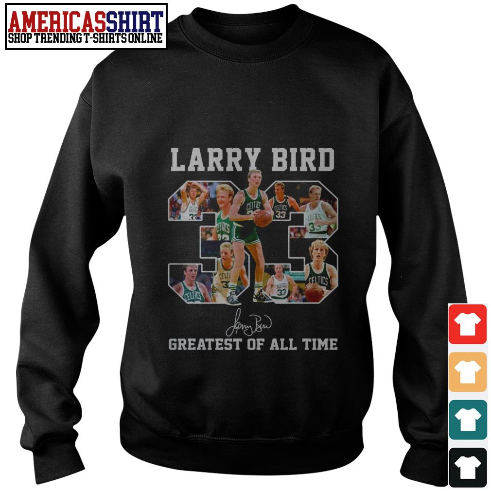 33 Larry Bird greatest of all time signature Sweater