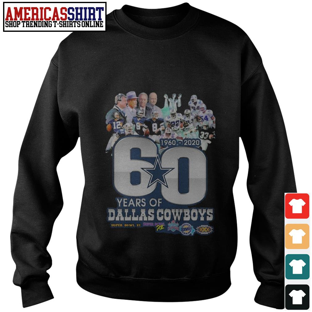 60 years of Dallas Cowboys 1960 2020  Super Bowl 6 Sweater