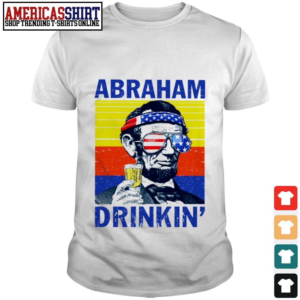 Abraham drinkin' beer vintage shirt