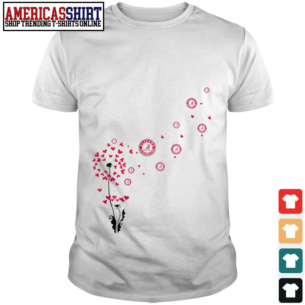 Alabama Crimson Tide dandelion flower shirt