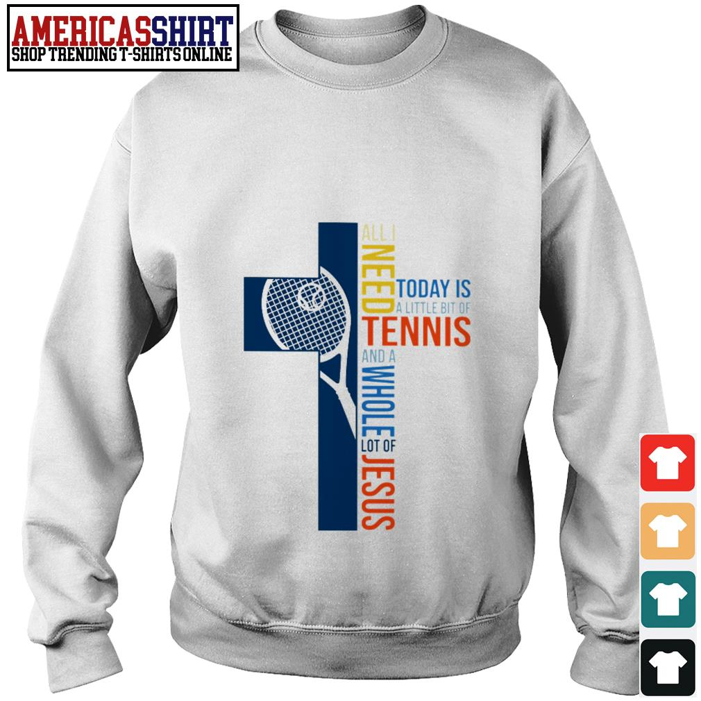 All I need today is a little bit of tennis and a whole lot of Jesus Sweater