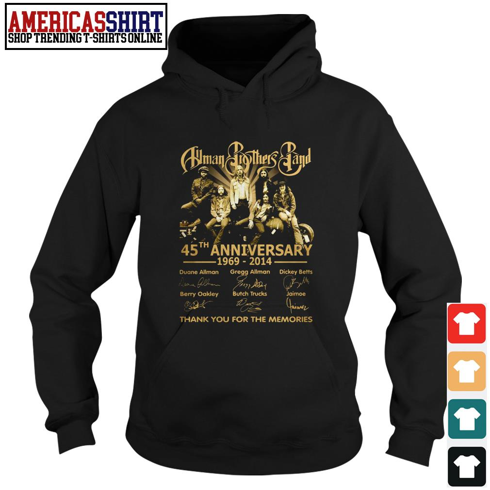 Allman Brothers Band 45th anniversary 1969 2014 thank you for the memories Hoodie