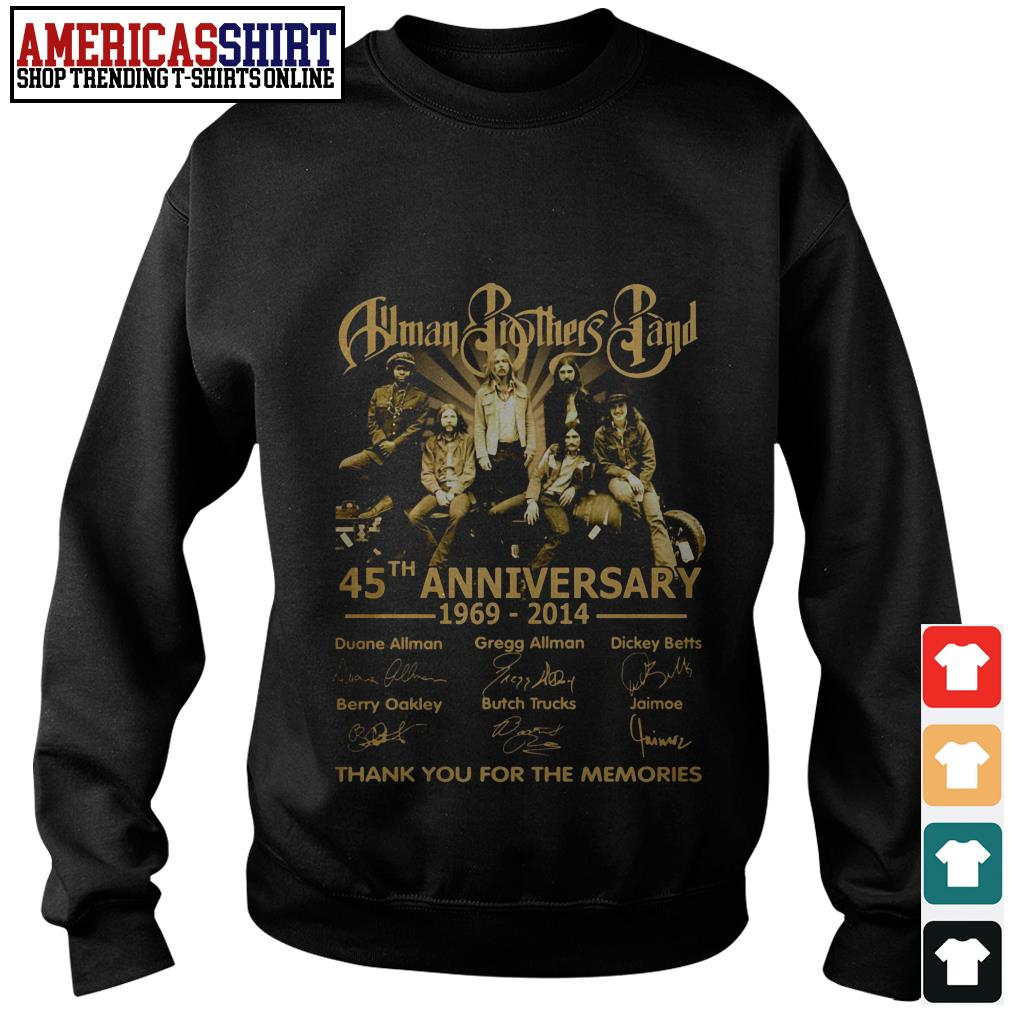 Allman Brothers Band 45th anniversary 1969 2014 thank you for the memories Sweater