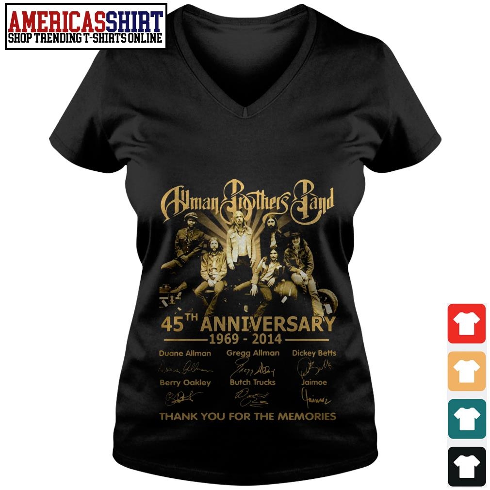 Allman Brothers Band 45th anniversary 1969 2014 thank you for the memories V-neck T-shirt