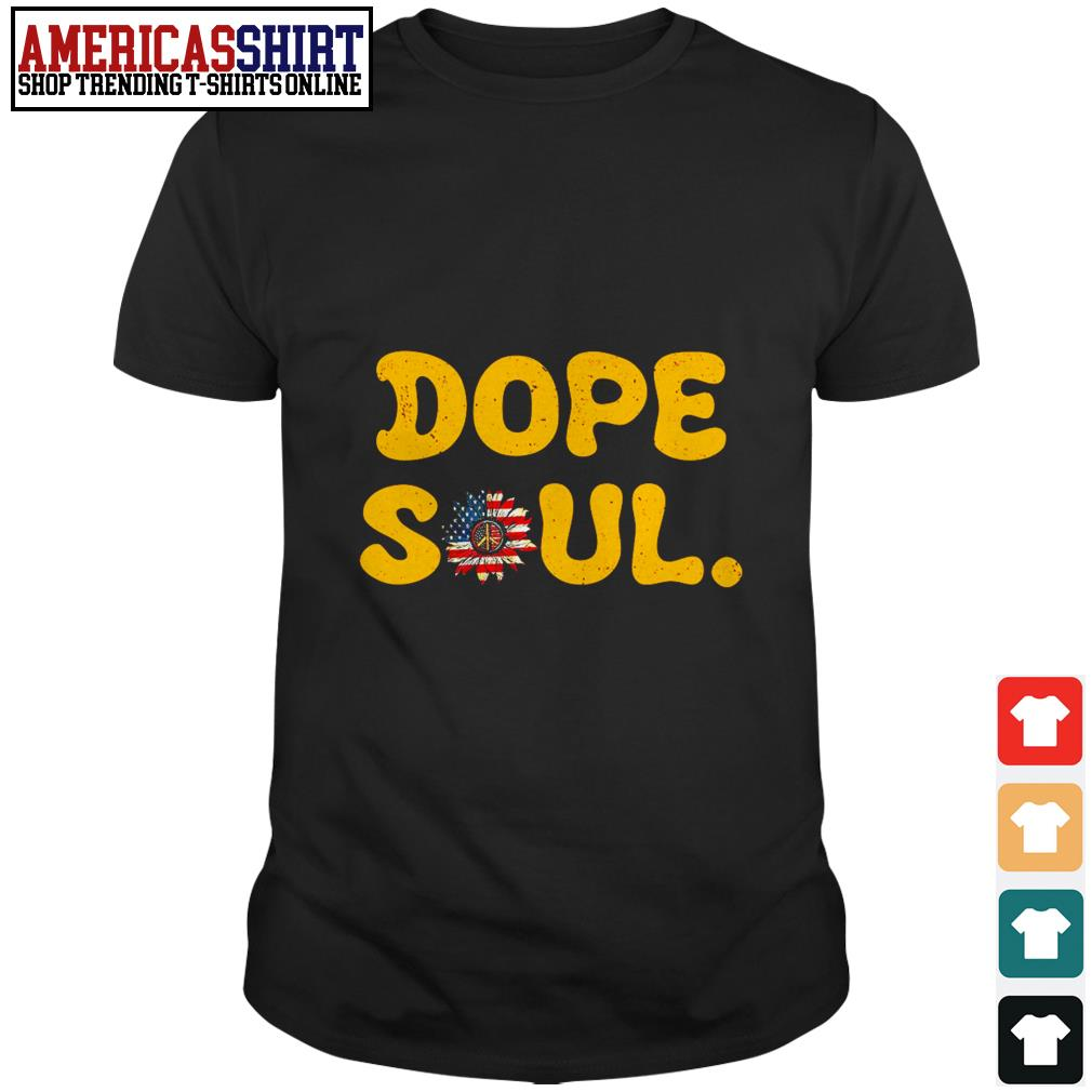 American flag hippie sunflower dope soul shirt