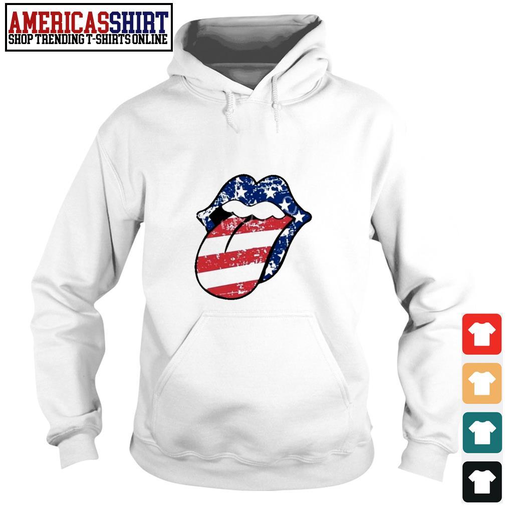 American flag mouth Hoodie