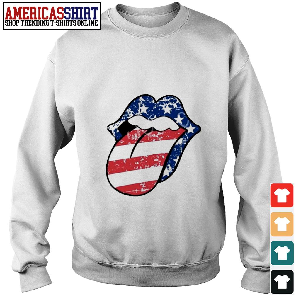 American flag mouth Sweater