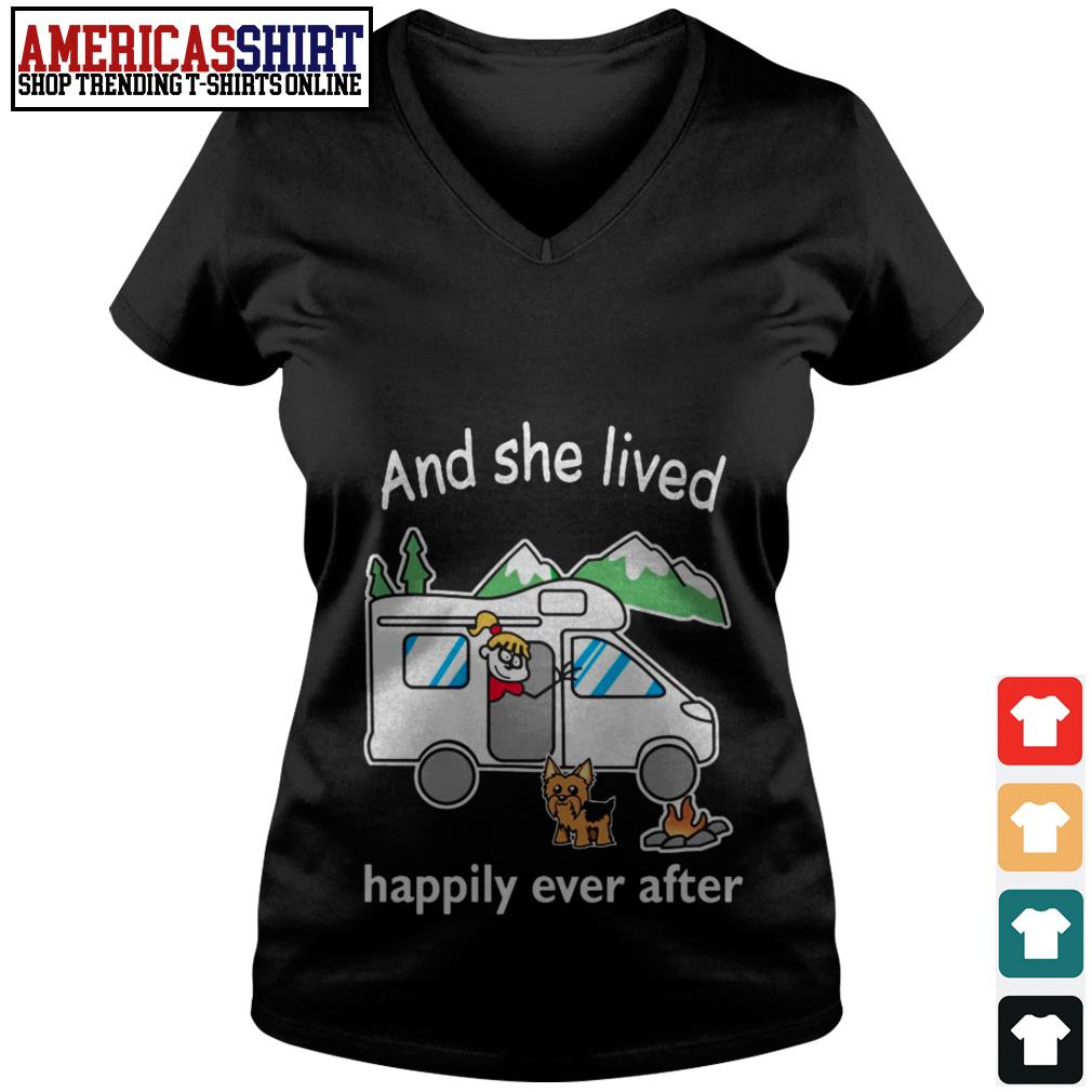 And she lived happily ever after camping V-neck T-shirt