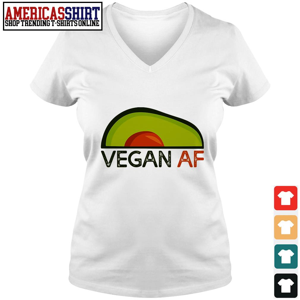 Avocado vegan af V-neck T-shirt