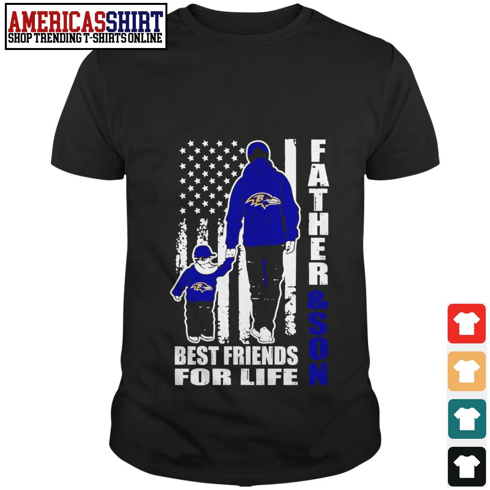 Baltimore Ravens Father and son best friends for life shirt