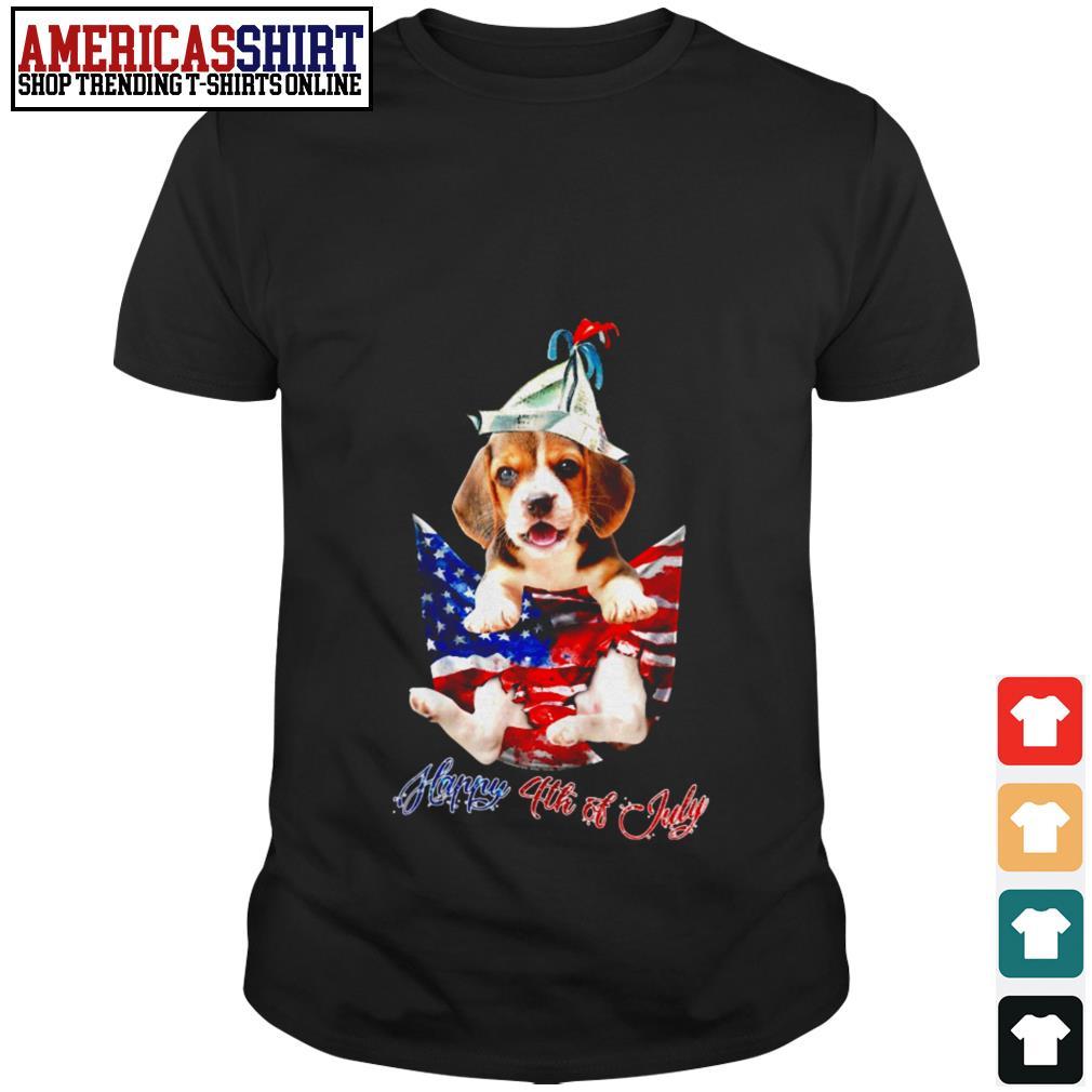 Beagle happy 4th Of July shirt