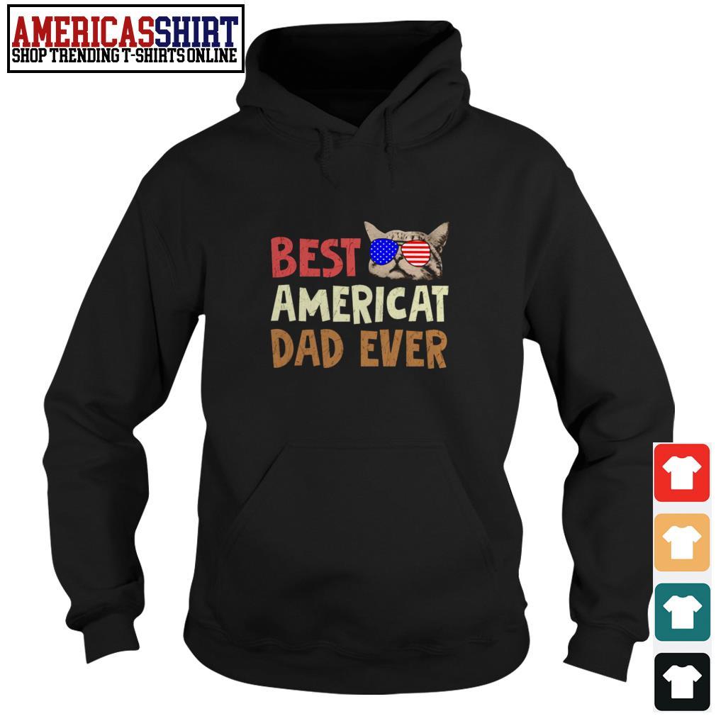 Best American dad ever American flag glasses Hoodie