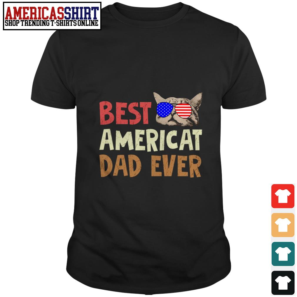 Best American dad ever American flag glasses shirt