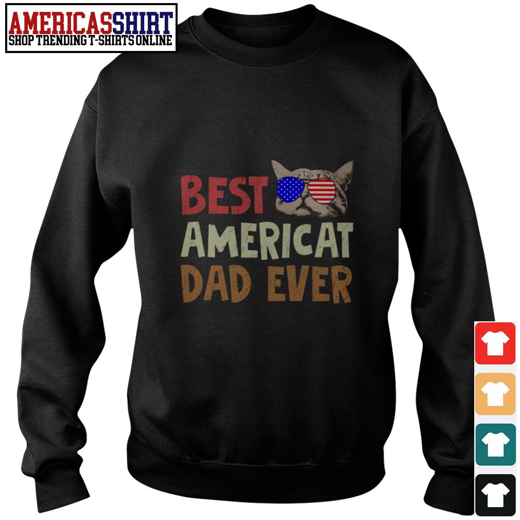 Best American dad ever American flag glasses Sweater