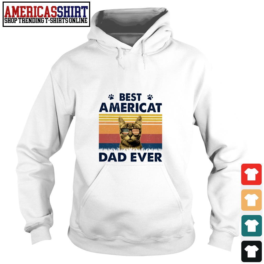 Best Americat dad ever American flag vintage Hoodie