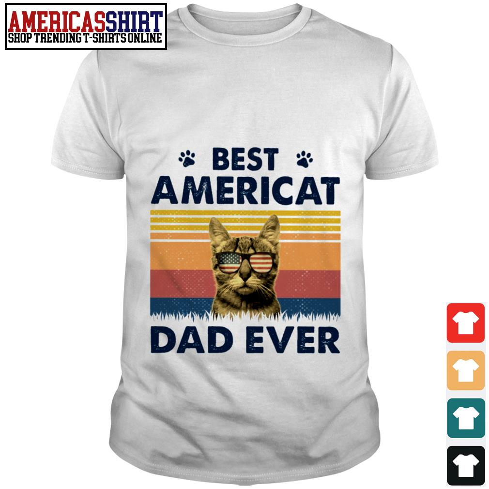 Best Americat dad ever American flag vintage shirt
