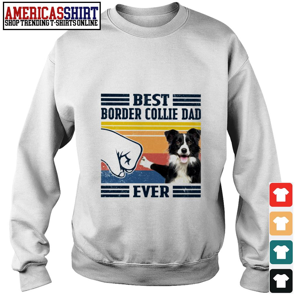 Best Border Collie dad ever vintage Sweater