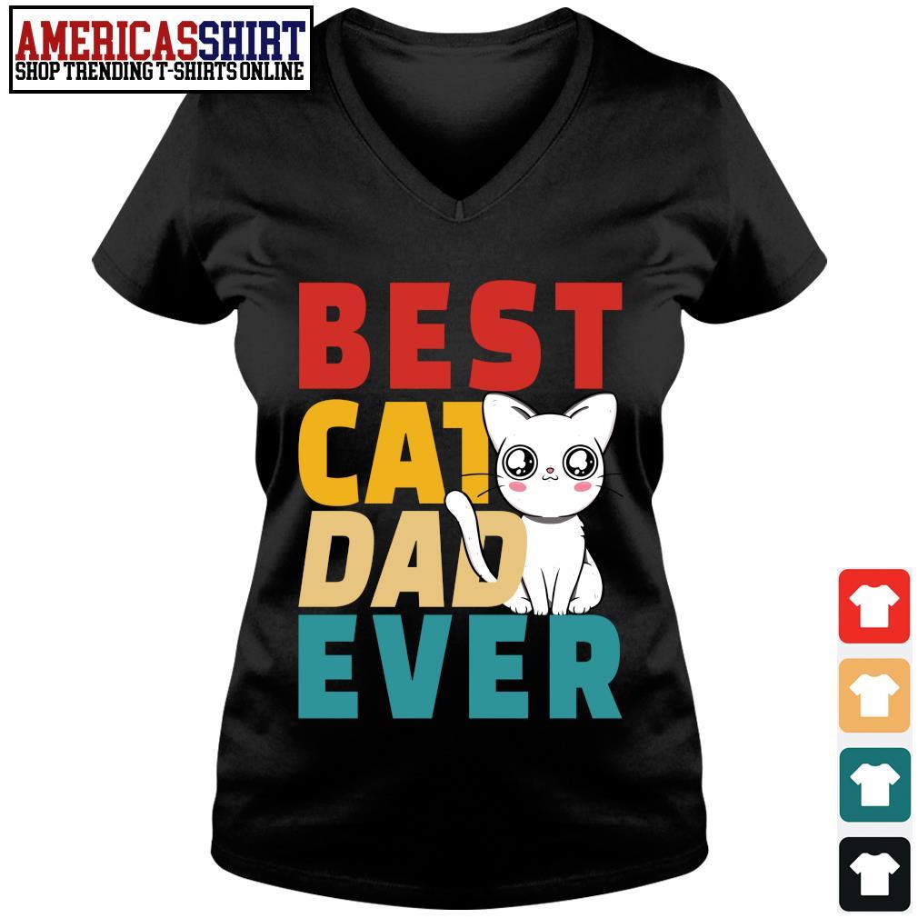 Best cat dad ever vintage s v-neck t-shirt