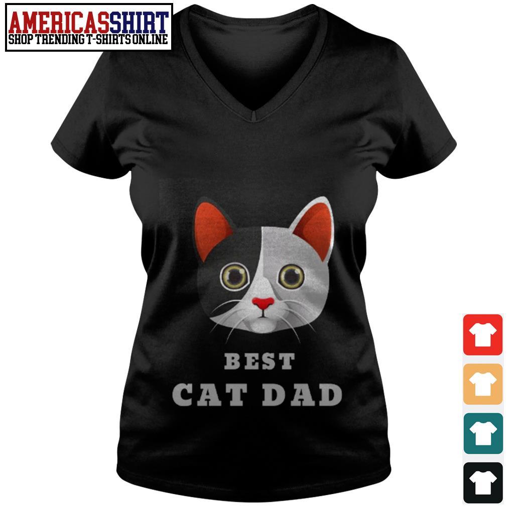 Best cat dad V-neck T-shirt