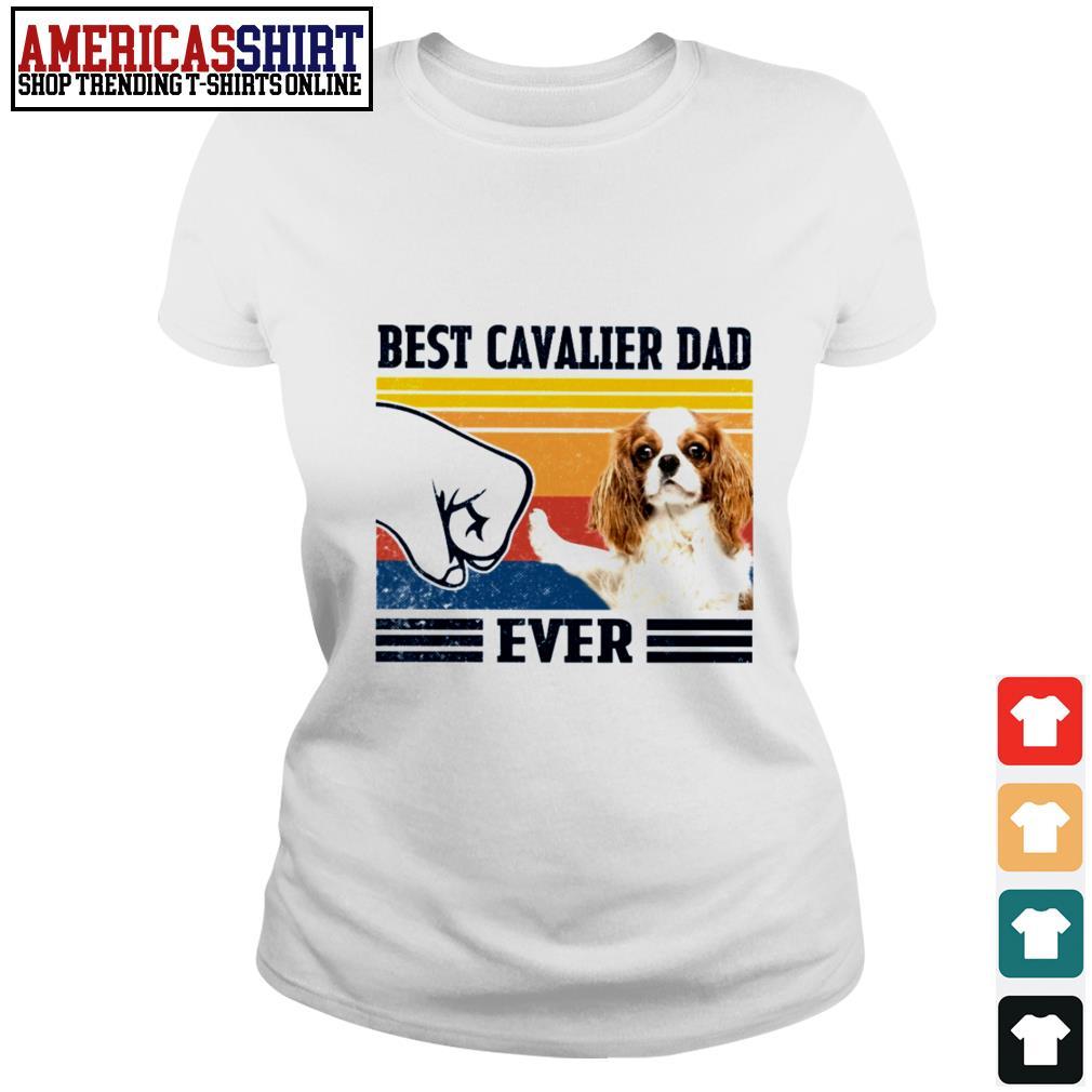 Best Cavalier dad ever vintage Ladies Tee