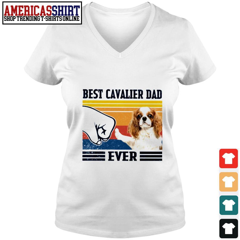 Best Cavalier dad ever vintage V-neck T-shirt