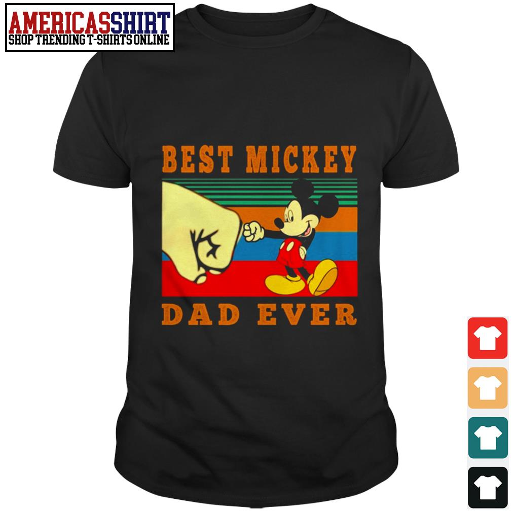 Best Mickey dad ever vintage shirt