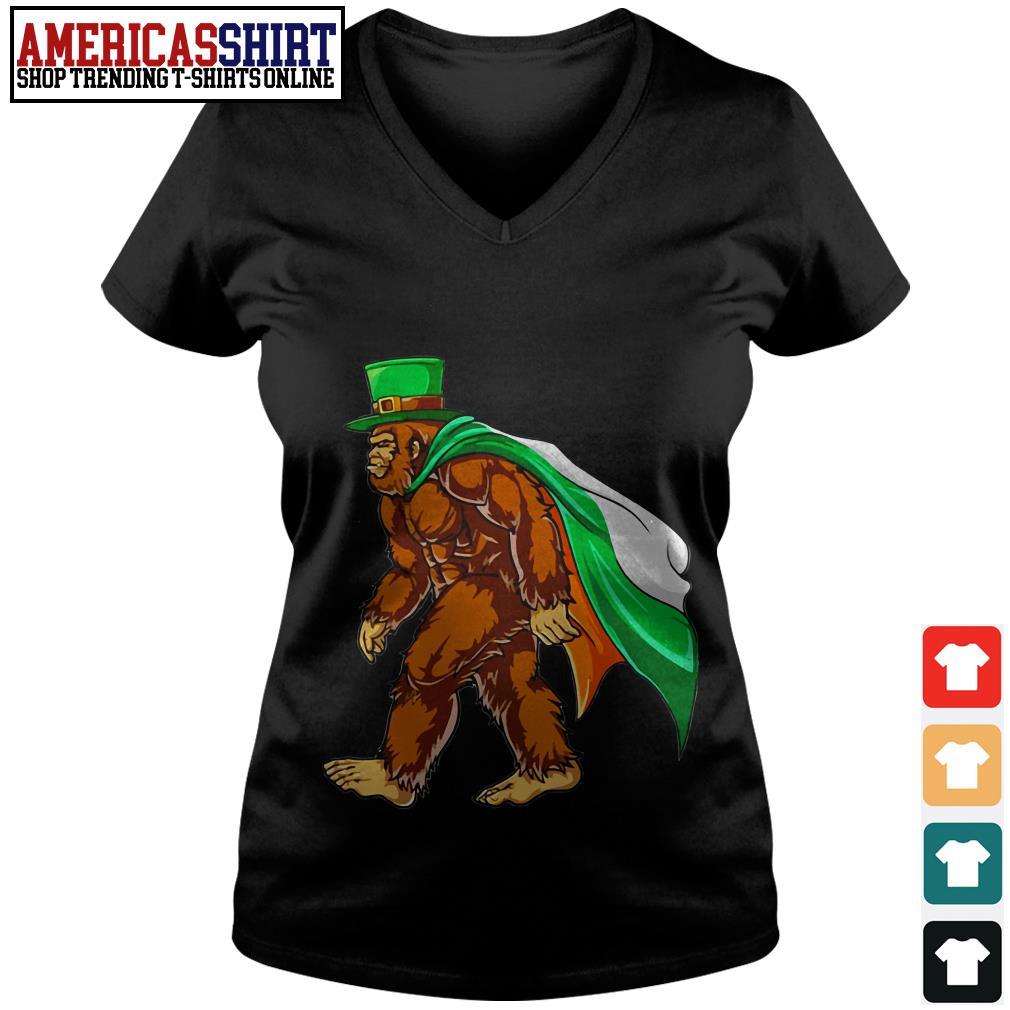Bigfoot St' Patrick's Day final V-neck T-shirt