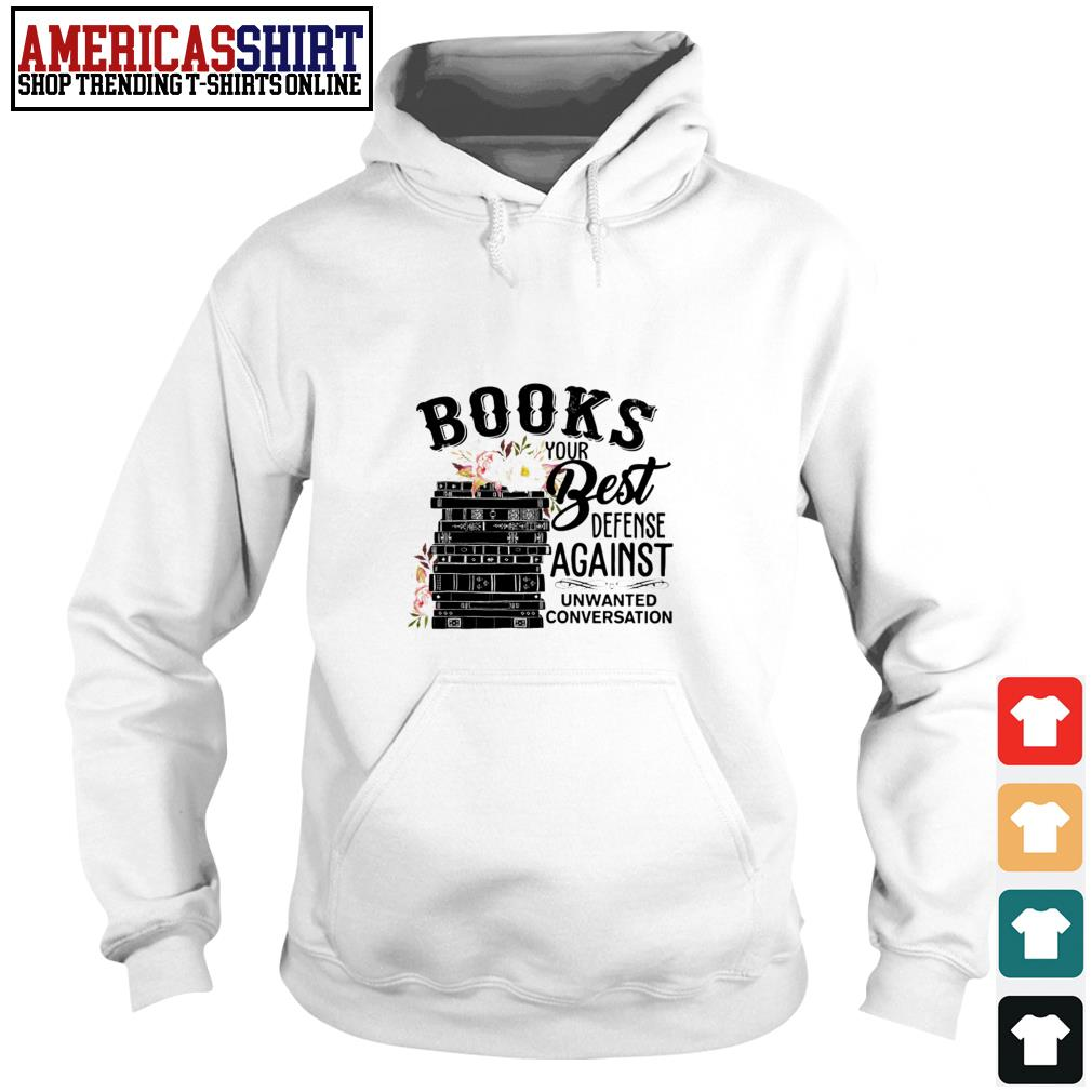 Books your best defense against unwanted conversation Hoodie
