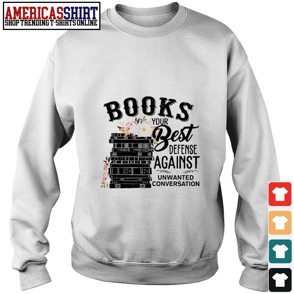 Books your best defense against unwanted conversation Sweater