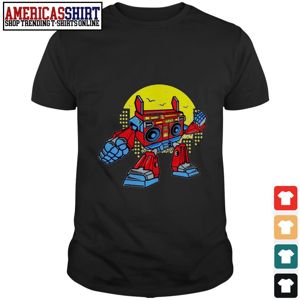 Boombox robot cartoon shirt