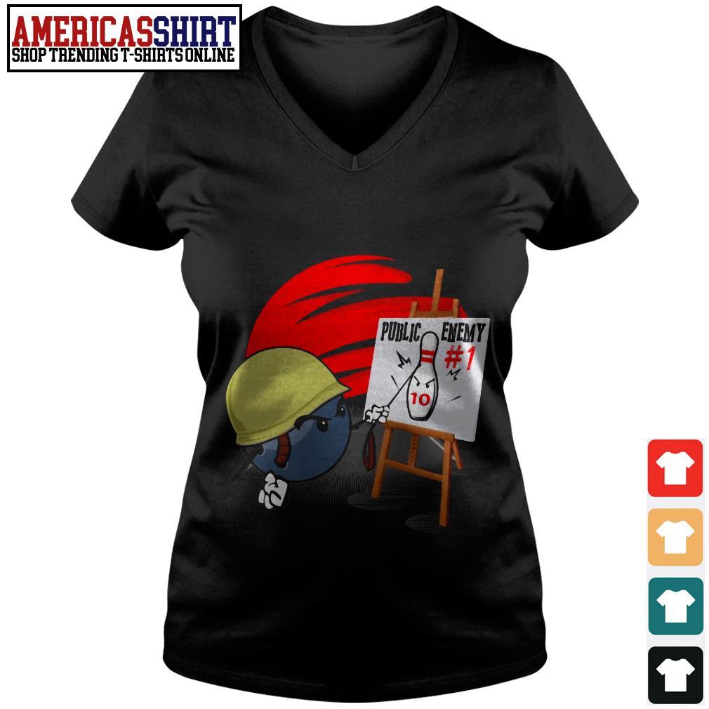 Bowling public enemy no 1 V-neck T-shirt
