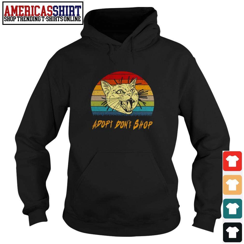 Cat adopt don't shop vintage Hoodie
